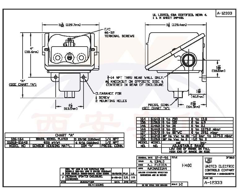 H400-S126B/134B/137B/S144B/S146B/S156B/S164B系列具体参数